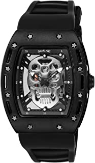 [ゾンネ]SONNE 腕時計 S160シリーズ シルバー文字盤 ラバーベルト S160BK-BKSV メンズ