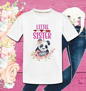 eb51e62b Organic Kids Shirt Little Sister Panda Bear Organic Cotton Gift T-Shirts  For Girls