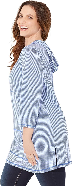 Catherines Women's Plus Size Petite Fresh Start Active Hoodie