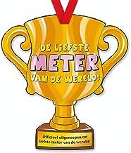 trofee Liefste Meter 33 cm karton goud