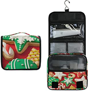 Hanging Toiletry Bag Best Christmas Cookies Waterproof Wash Bag Makeup Organizer for Bathroom Men Women