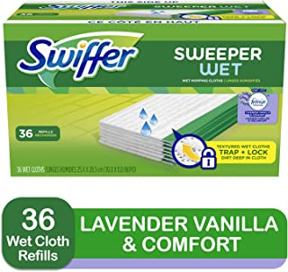 Swiffer Sweeper Wet Mopping Cloth Multi Surface Refills, Febreze Lavender Vanilla &..