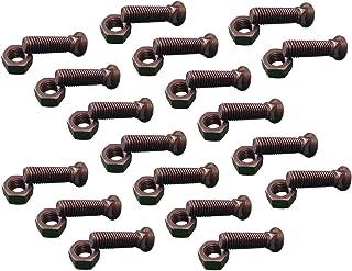 Flat Head 150 pcs Grade 8 Steel Plain 1//2-13 X 4 3 Head Plow Bolts