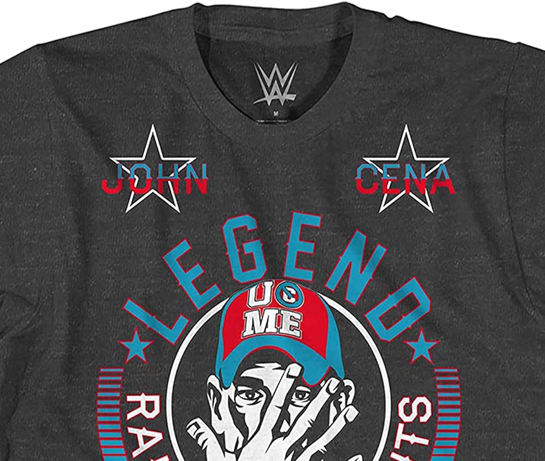 WWE Boys John Cena Shirt - Hustle, Loyalty & Respect Superstar Tee - World Wrestling Champion T-Shirt