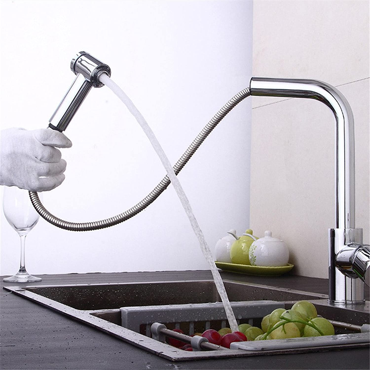 MIAORUI Single type greenical copper pot kitchen faucet kitchen drawing cold and hot water tap
