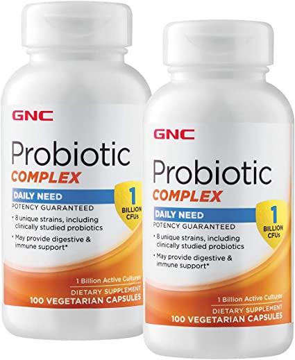 Amazon.com: GNC GNC Probiotic Complex Daily Need - 1 Billion CFUs - Twin  Pack: Health & Personal Care