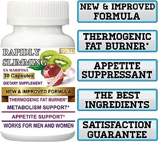 New Improved Formula + THERMOGENIC Fat Burner 1 Bottle Original Rapidly Slimming Gold 30 Capsules. Maximum Strength.