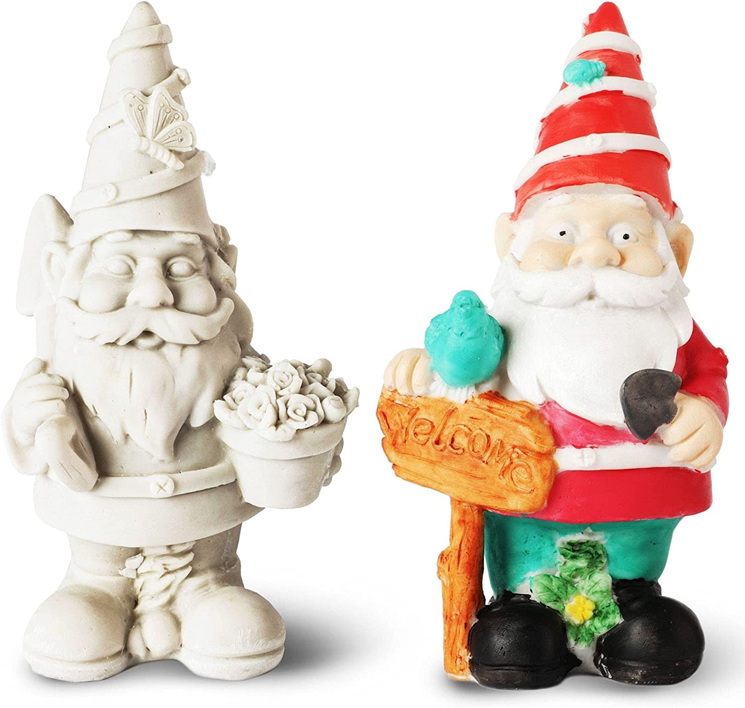 Paint Your Own Garden Gnomes Figur Price reduction Austin Mall DIY Ceramics Unpainted Small