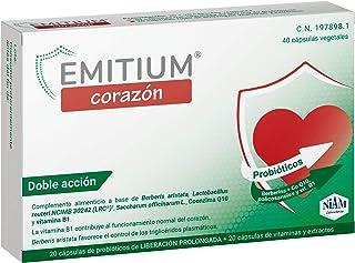 EMITIUM Corazón con probióticos. vitaminas y extractos vegetales - 40 cápsulas vegetales