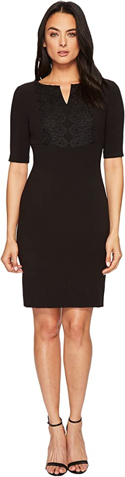 Lace Trim Sheath Dress