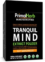 product image for Natural Stress & Anxiety Relief | by Primal Herb | Mood, Serotonin Support | Calming Herbal Extract Powder -128 Servings - Includes Bamboo Spoon