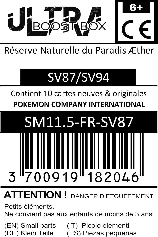 R/éserve Naturelle du Paradis /Æther Aether Paradise Conservation Area SV87//SV94 Dresseur Secr/ète Coffret de 10 Cartes Pok/émon Aglaises #myboost X Sun /& Moon 11.5 Hidden Fates