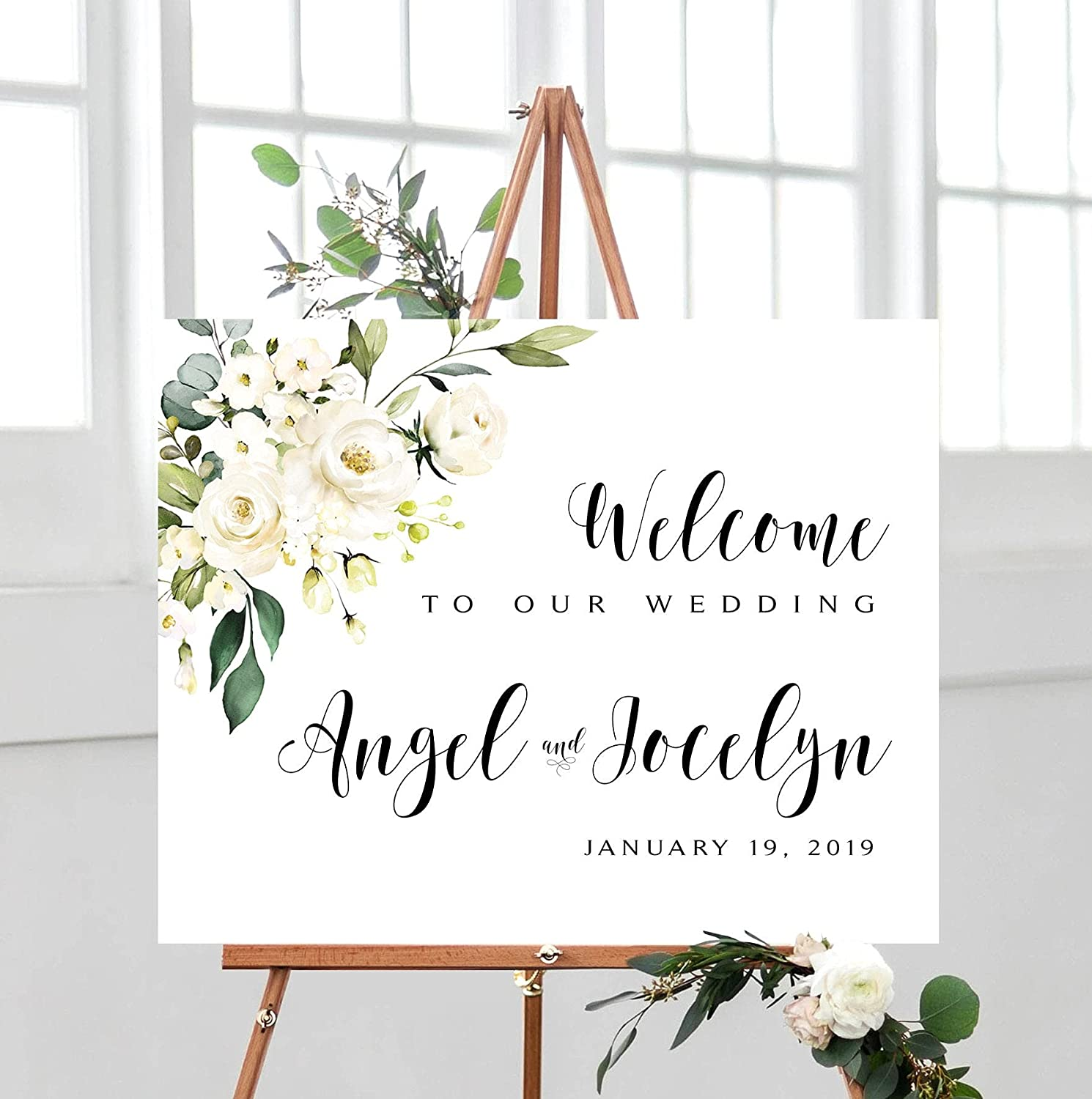 Promini Los Angeles Mall Wedding Welcome Sign Various Poster Personalized High quality new