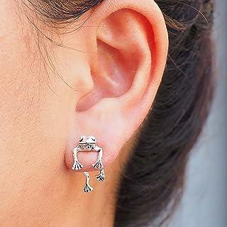 T- Oorbellen voor dames, oorclip, punk, lopen, kikker, oorbellen, sieraden, geschenken, retro, modieus, oor, gesp, diereno...