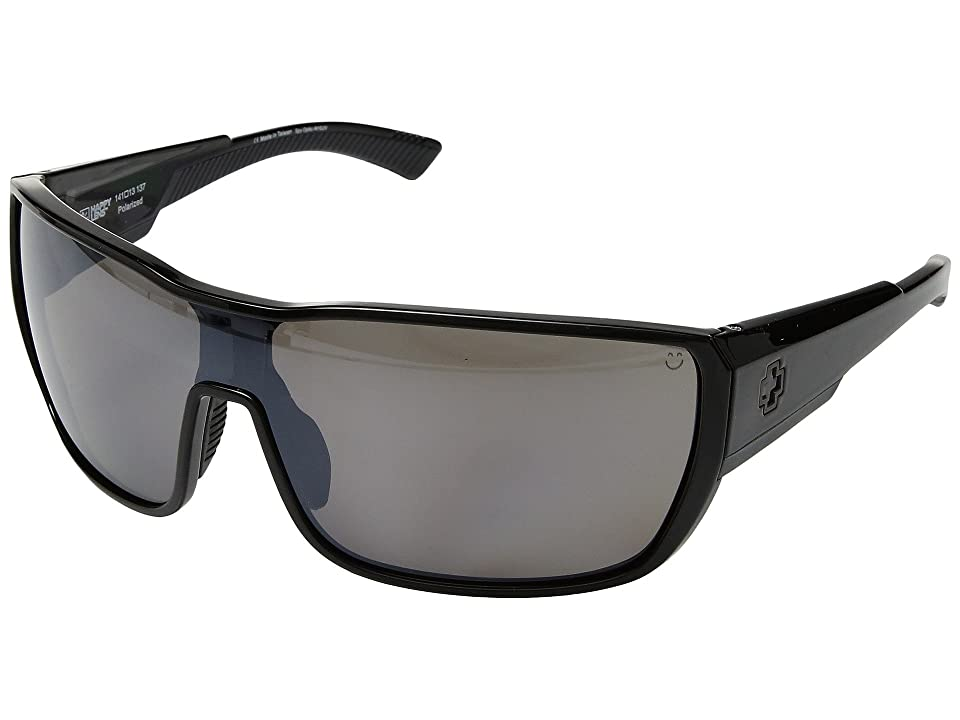 Spy Optic Tron 2 (Black/Happy Bronze Polar/Black Mirror) Athletic Performance Sport Sunglasses