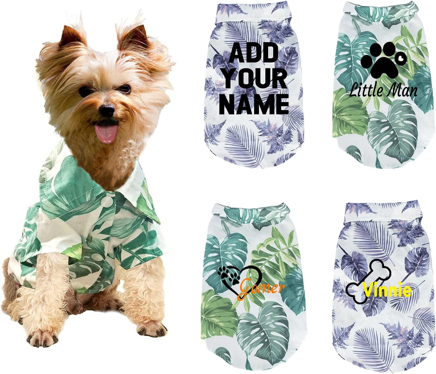Custom Dog Limited time for free shipping Animer and price revision Hawaiian Shirt with Name Tree Print Coconut Personal