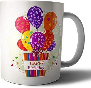 مج سيراميك بعبارة عيد ميلاد سعيد «Happy Birthday» من ويب افندي