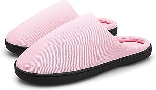 DADAZE Men's Women's Memory Foam Slippers Cozy Wool-Like Plush Fleece Lined Winter Warm Anti-Skid House Shoes Indoor & Outdoor