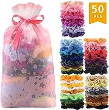 50 Pcs Premium Velvet Hair Scrunchies Hair Bands Scrunchy Hair Ties Ropes Scrunchie for Women or Girls Hair Accessories (50 Color Premium Velvet Scrunchies)