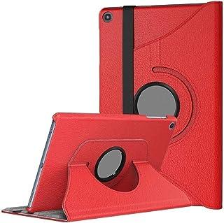 """Capa Giratória Tablet Samsung A7 T500 T505 10.4"""" Vermelha"""