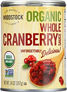 Woodstock Organic Whole Berry Cranberry Sauce, 14 Ounce - 24 per case.