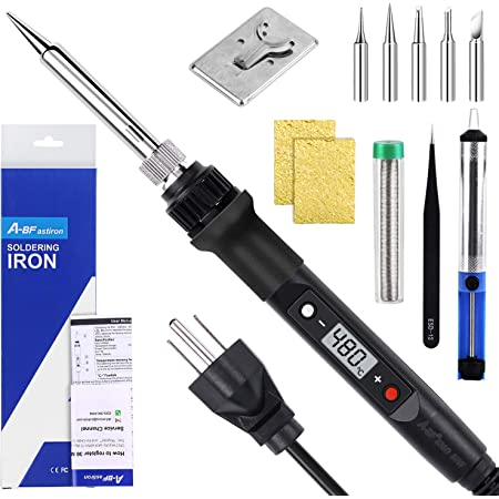 80W Soldering Iron LCD Digital Electric Welding Tool Solder Wire Hand M9Y8