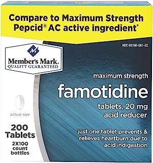Member's Mark 20 mg Famotidine Acid Reducer (200 ct.) (Pack of 2)