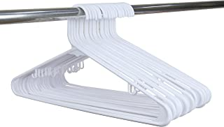 SMART ONYE Pack of 50 Standard Premium Plastic Hangers White (White)
