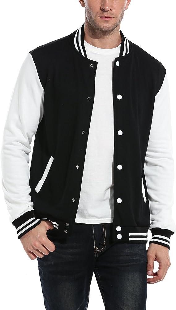 50s Men's Jackets | Greaser Jackets, Leather, Bomber, Gabardine COOFANDY Mens Slim Fit Varsity Baseball Jacket Bomber Cotton Premium Jackets  AT vintagedancer.com