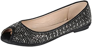 Best sparkly peep toe flats Reviews
