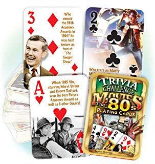 Flickback Media, Inc. 1980's Movie Trivia Playing Cards: 30th Birthday or Anniversary