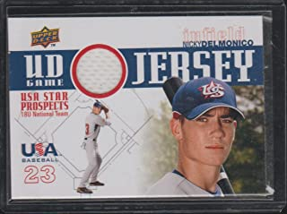 2009 Upper Deck Nicky Delmonico USA Game Used Jersey Baseball Card #GJU-5