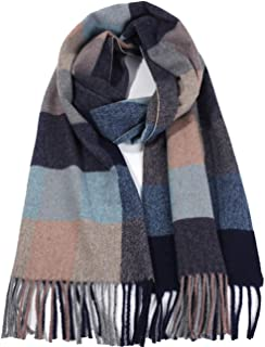 Runtlly Men's Plush Plaid Classic Feel Winter Scarf(Fd01)