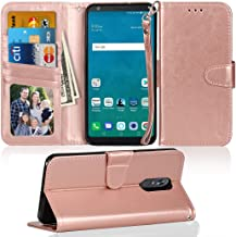 LG Stylo 4 Wallet Case, LG Q Stylus Wallet Case, NOKEA Flip Foliot [Kickstand Feature][Wrist Strap] Luxury Premium PU Leather Wallet CASE with ID &Credit Card-Slots for LG Stylo 4/Q Stylus Gold