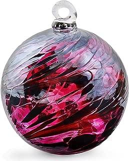 Friendship Ball Reds Iridescent 2.5 Inch Kugel Witch Ball by Iron Art Glass Designs