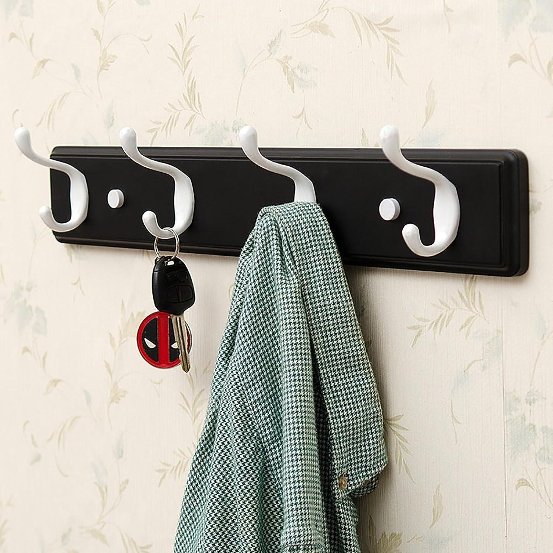 LFF- Wall-Mounted Coat Rack Hanger Wall Shelf Bedroom Living Room Door Clothes Hook Clothes Hanger Hat Rack (color   Black, Size   B)