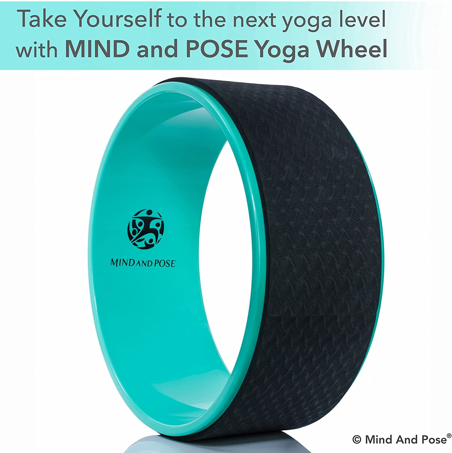Mind And Pose Yoga Wheel Dharma Back Wheel   Aids with Stretching, Reduces  Back Pain, Improves Balance and Backbend, Increases Flexibility, Massage ...
