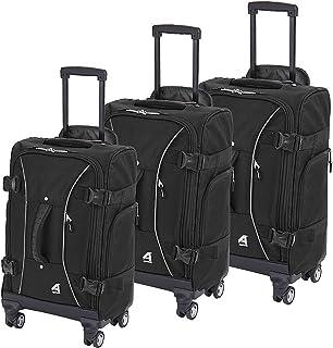 Athalon Hybrid Spinners Luggage 3 Pc Set Black, One Size