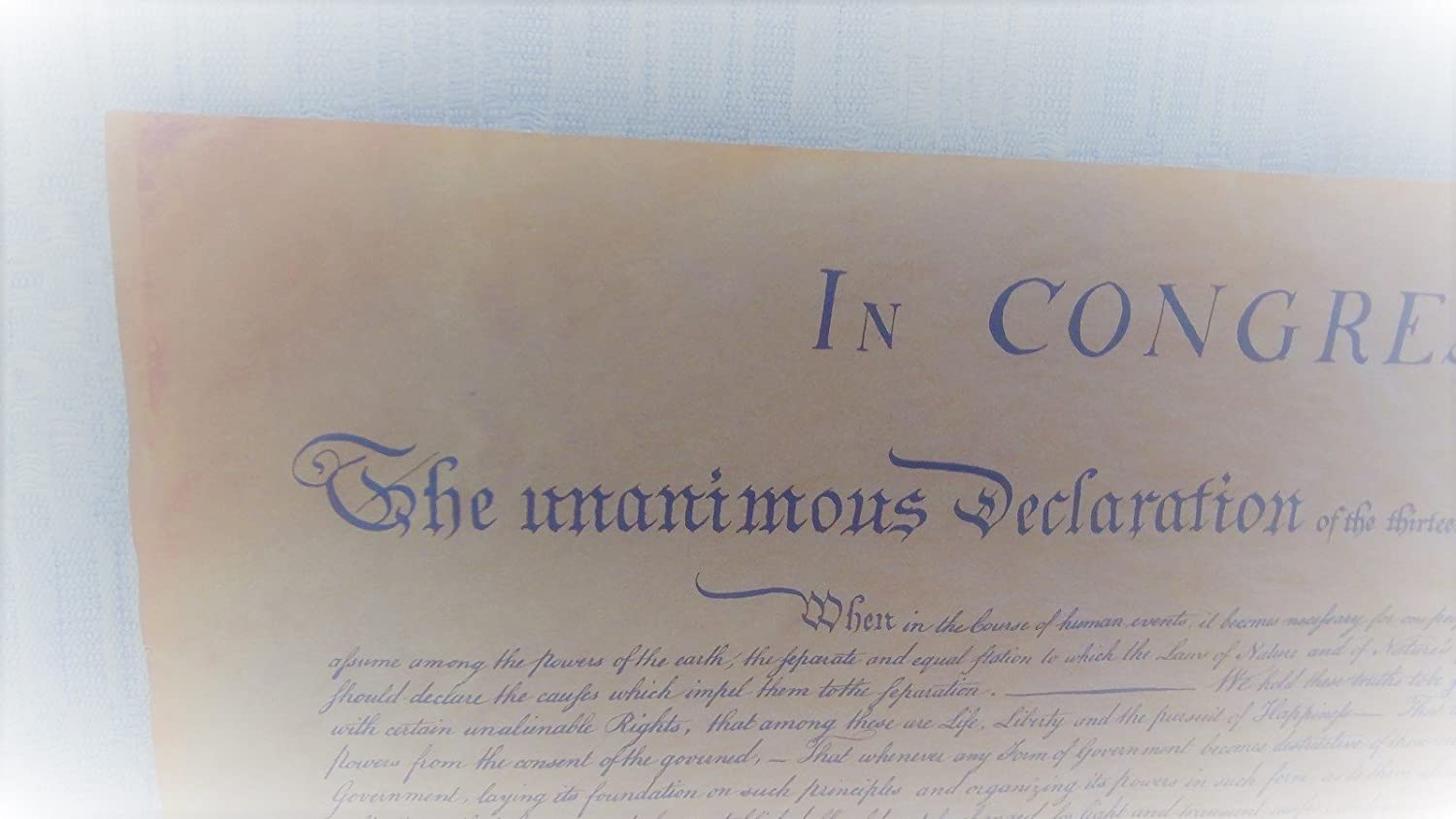 TG,LLC Treasure Gurus US Declaration of Independence Historical Document on Antiqued Parchment Paper