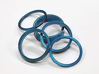 Bazooka铝头垫组 1-1/8 蓝色 2mm/5mm/10mm AHBLU