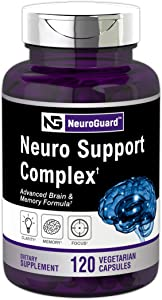 Brain Support Supplement | 120 Capsules | Advanced Formula for Memory, Focus, Clarity | Vegetarian, Non-GMO & Gluten Free | Neuro Support | by Horbaach