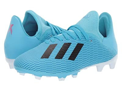 adidas Kids X 19.3 FG Soccer (Little Kid/Big Kid) (Bright Cyan/Black/Shock Pink) Kid