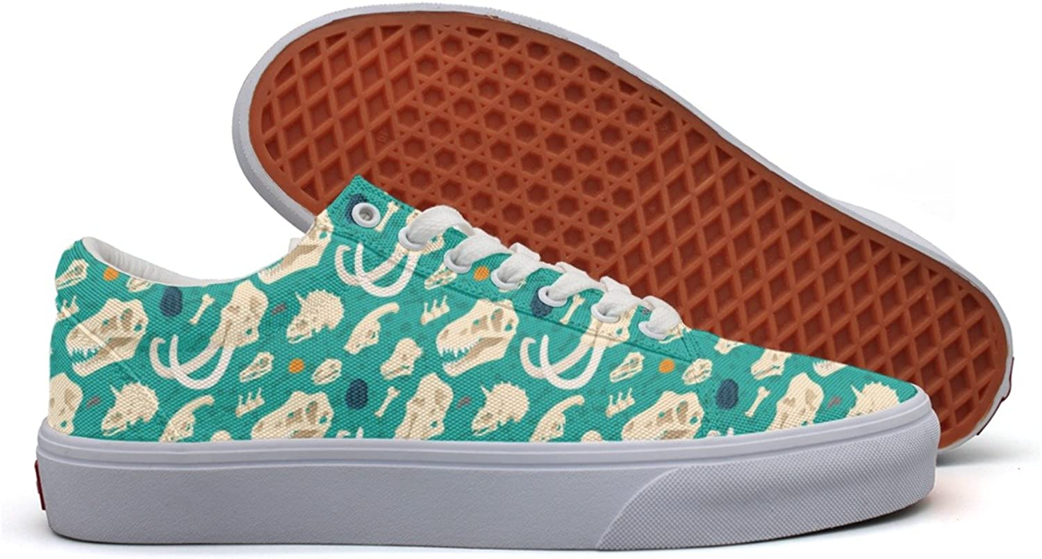Dinosaur Pattern In bluee Women's Casual shoes Sneakers Canvas Classic Low Top Vegan