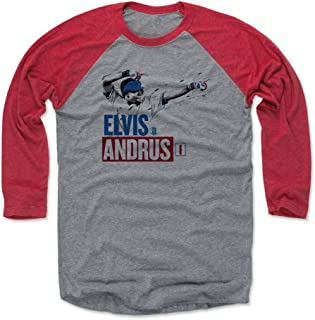 Elvis Andrus Shirt - Texas Baseball Raglan Tee - Elvis Andrus Paint