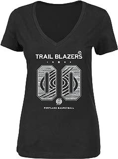 Majestic Portland Trail Blazers NBA Women's Legendary League V-neck T-shirt