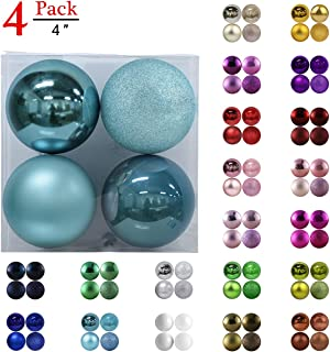 GameXcel Christmas Balls Ornaments for Xmas Tree - Shatterproof Christmas Tree Decorations Large Hanging Ball Sky Blue 4.0