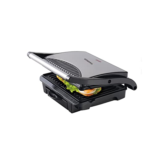 Concord Sandwich Maker/ Grill (1000 W with Oil Drip Tray), Silver