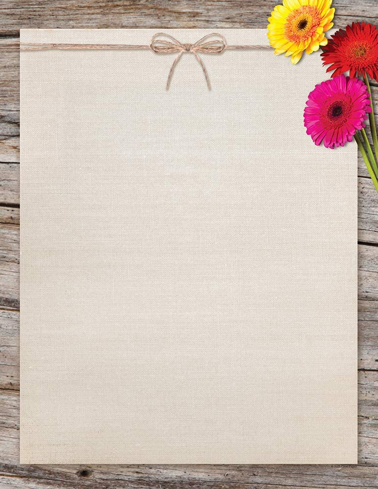Great Papers Three Gerber New item Reservation Daisies Letterhead 11