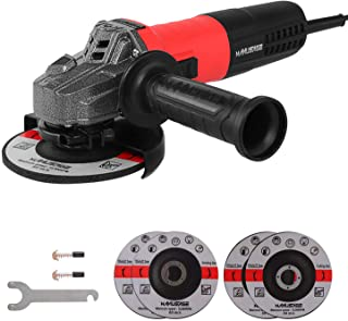 MANUSAGE 7-Amp Angle Grinder,4-1/2 inch Power Grinder with 115mm Grinding Abrasive Wheels,Cutting Abrasive Wheels and 3-Position Anti-Vibration Handle