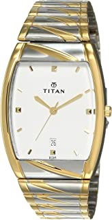 Titan Karishma analog White Dial Men's Watch NM9315BM01/NN9315BM01